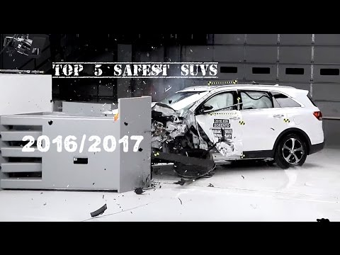 Top 5 Best Suvs 2016 2017 Based On Safety Rating Crash Test