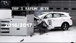 Top 5 Best SUVs (2016/2017) [BASED ON SAFETY RATING] [Crash Test]