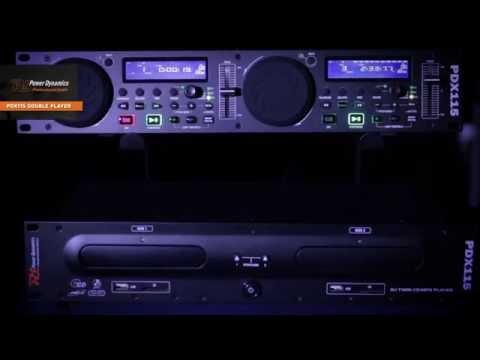 POWER DYNAMICS PDX115 Double Player CD/SD/USB/MP3 art nr 172.713