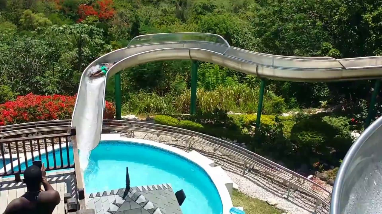 mystic mountain water slide in st ann jamaica youtube