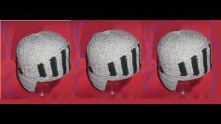 Вязанная крючком  шапка  шлем(knitted hat -shlem)