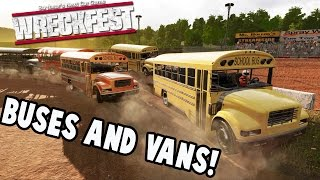 Wreckfest Gameplay - FIGURE 8 FUN with BUSES and VANS - Next Car Game