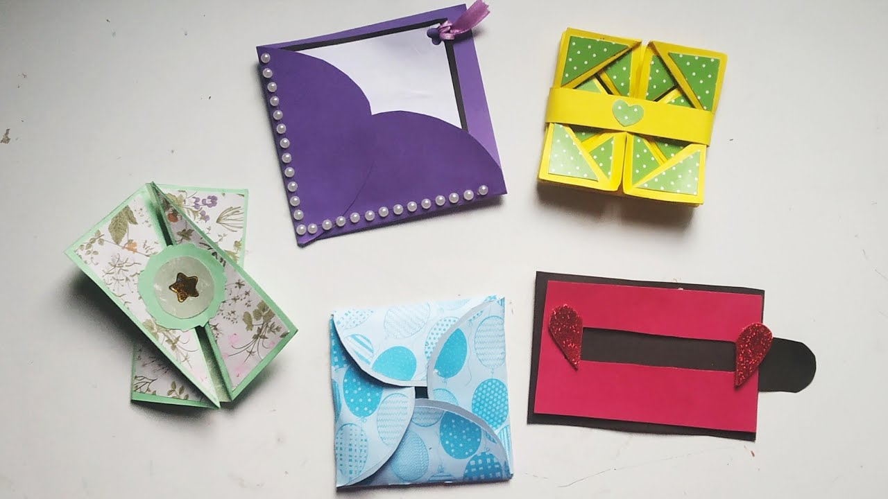 How To Make Scrapbook Pages/ 5 Different Cards Ideas/ DIY Scrapbook Tutorial / Scrapbook Cards