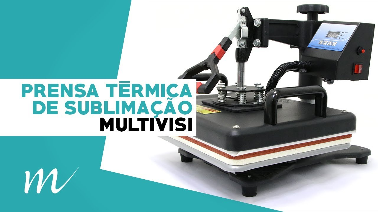 PRENSA TÉRMICA DE SUBLIMAÇÃO 8 EM 1 TÉCNICO - YouTube 47d668cf0c0