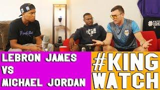 Lebron James vs Michael Jordan (feat The Schmo)   Hoops N Brews