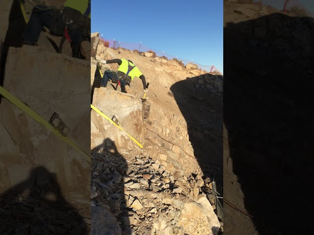 4G Employee Cleaning Up Risky Rocks as Part of Hillside Stabilization Project - Part 2!