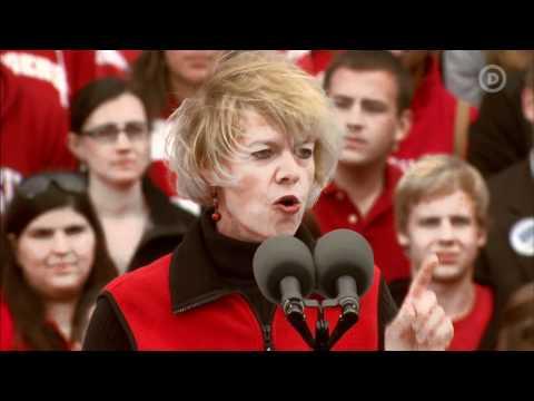 Rep. Tammy Baldwin in Madison, WI