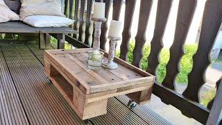 Tisch selber bauen (aus Paletten)