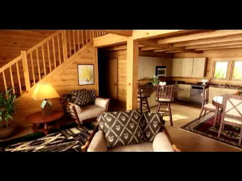 Casas de madera maciza modelo mountain view en 3d youtube - Casas de madera por dentro ...