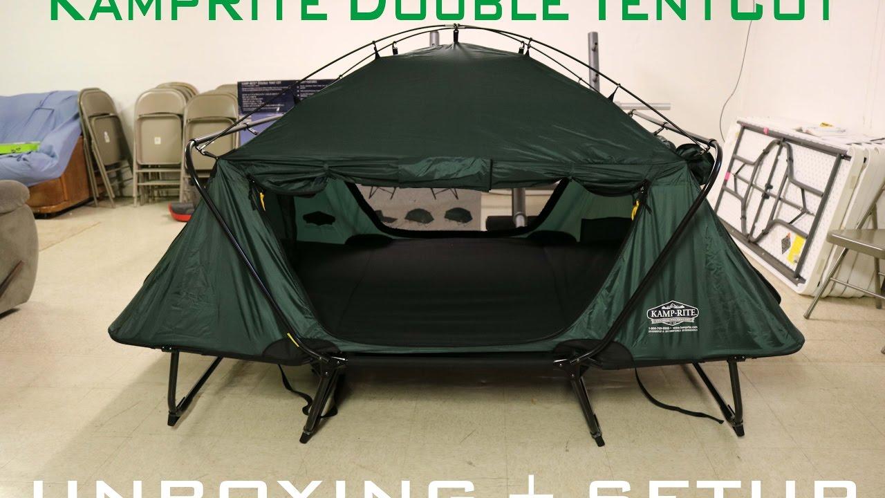 K&Rite Double TentCot Unboxing u0026 Setup & KampRite Double TentCot Unboxing u0026 Setup - YouTube
