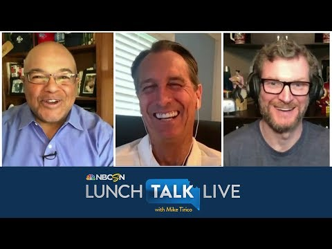 How Cris Collinsworth and Dale Jr. are handling COVID-19 pandemic | Lunch Talk Live | NBC Sports