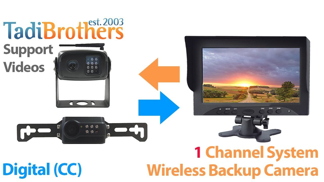 Pairing a digital wireless backup camera to a single channel system ...