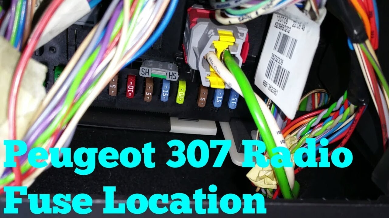 hight resolution of peugeot 307 radio fuse location