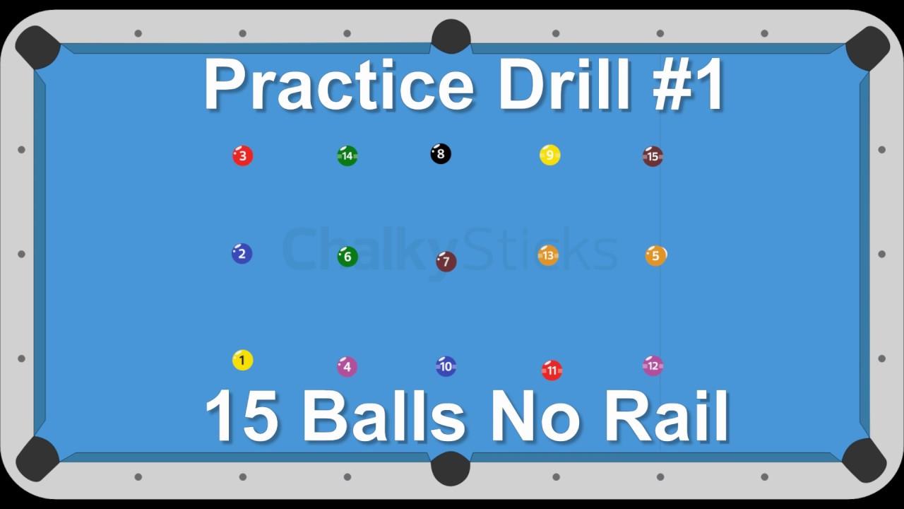 Billiards Drill #1 -- 15 Balls No rail -- Venom Trickshots