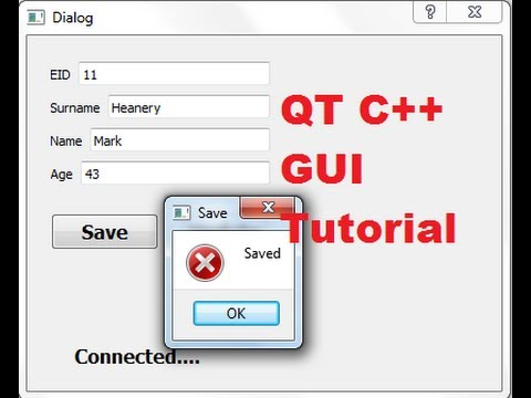 QT C++ GUI Tutorial 14- How to Save data in SqLite database with pushbutton
