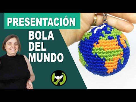Llavero amigurumi BOLA DEL MUNDO presentación