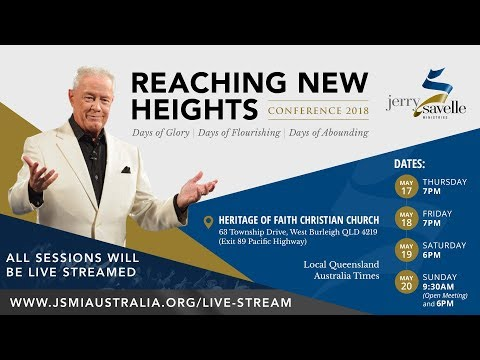 Live Stream - Reaching New Heights Conference with Jerry Savelle