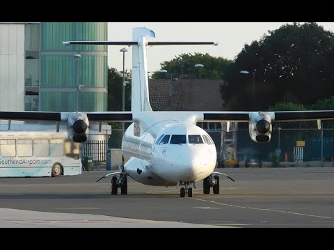 Stobart Air ATR-72-600 EI-FSK Start-Up, Taxi & Departure At London Southend Airport 08/09/2016