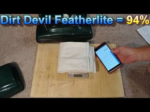 Dirt Devil Featherlite Baking Soda in the Carpet Test