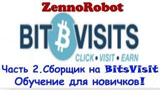 Обучение ZennoPoster + шаблон Bitsvisit.com БЕСПЛАТНО!