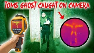 THE LIGHTS OUT CHALLENGE IN TOMS HAUNTED HOUSE! GHOST CAUGHT ON CAMERA