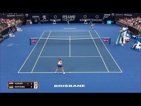 Konta vs Svitolina Match Highlights (QF)   Brisbane International 2018