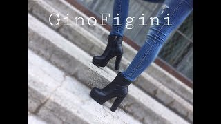 Обзор на ботинки на высоченном каблуке из натуральной кожи черного цвета. Ботинки must have ????
