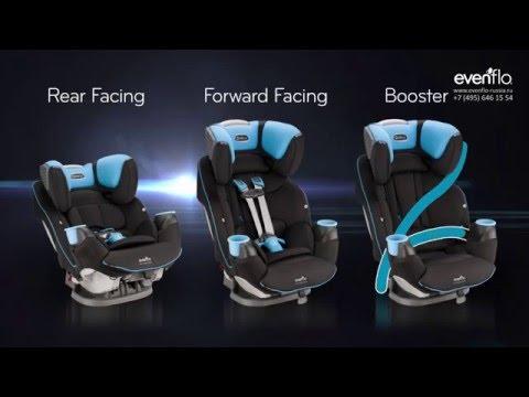 Evenflo SafeMax™ - первое в мире автокресло с технологией защиты при переворачивании автомобиля