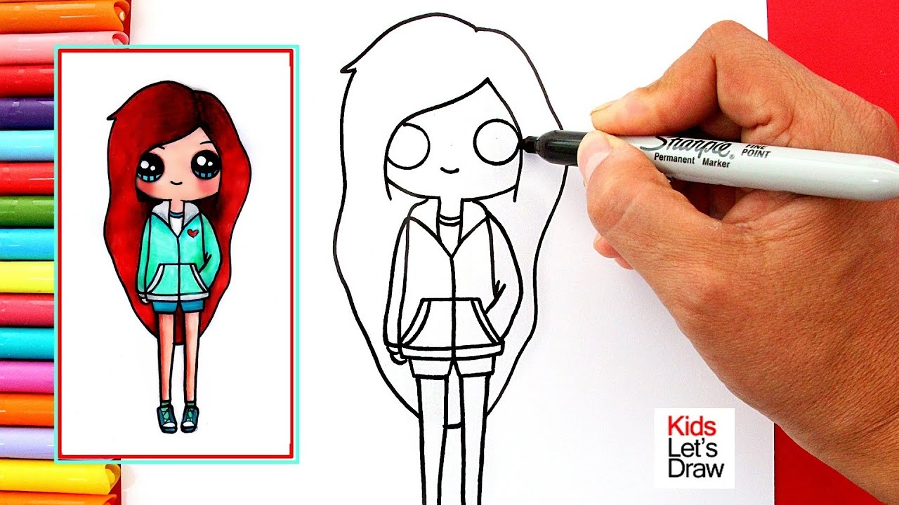 Dibujando Una Chica Tumblr Pelirroja Drawing A Cute Redhead Girl Youtube