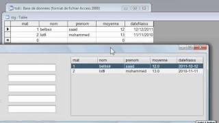 Gestion Stagiaire en JAVA(NetBeans7) base de donnée MS Access 2003