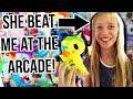 Sister Arcade Challenge! Claw Machines, & Ticket Games !
