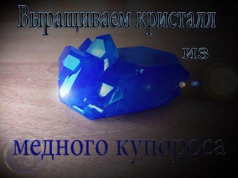 Как вырастить кристалл из медного купороса своими руками в домашних условиях.
