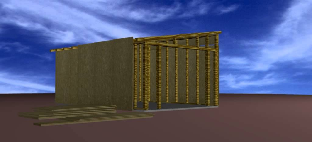 Montaż Garaż Drewniany Konstrukcja Szkieletowa Gremet Youtube