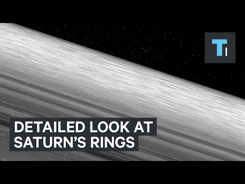 The most detailed images of Saturn's rings ever taken