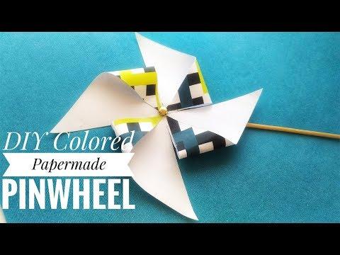 DIY PAPER-   PINWHEEL TUTORIAL