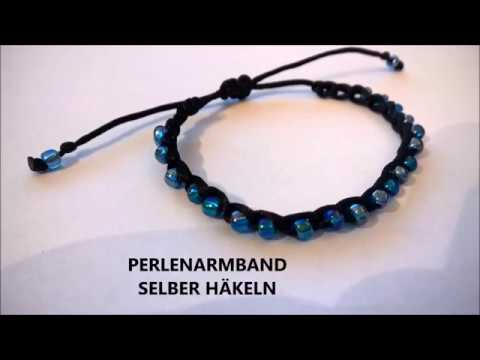 ARMBAND HÄKELN MIT PERLEN & ANLEITUNG - YouTube