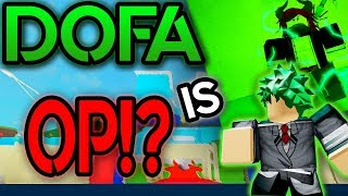 COMO OBTER DOFA!? BOKU NO ROBLOX REMASTERED | ROBLOX | DOFA QUIRK SHOWCASE