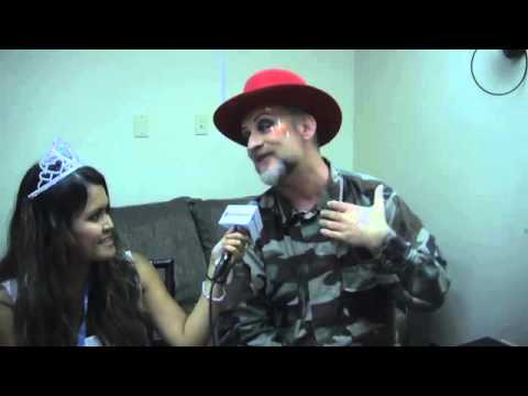Interview with British musician Boy George performing