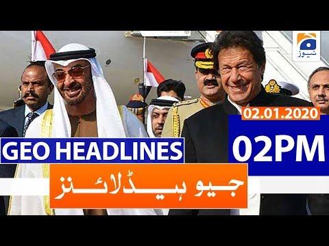 Geo Headlines 02 PM   2nd January 2020