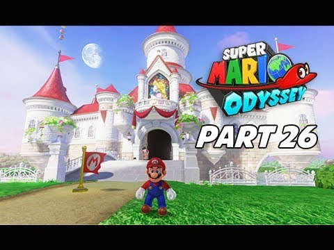 mario odyssey inside peachs castle princess peach