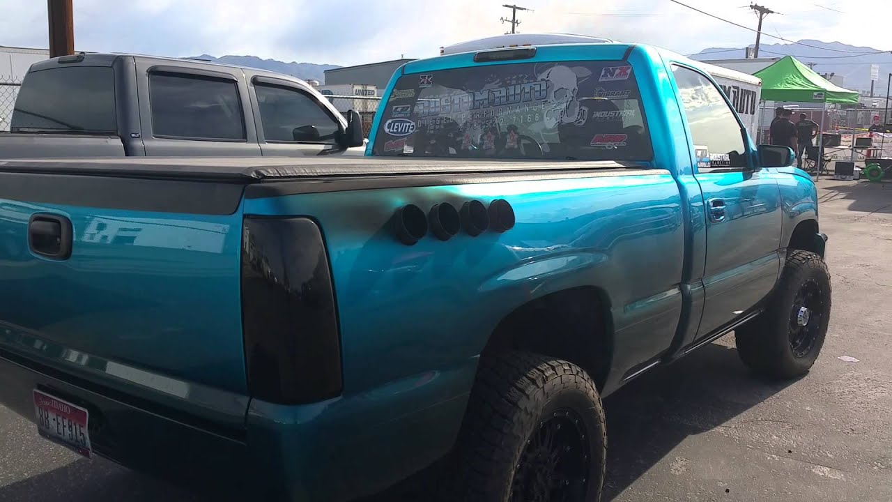 Lb7 Duramax Side Pipe Stacks Youtube