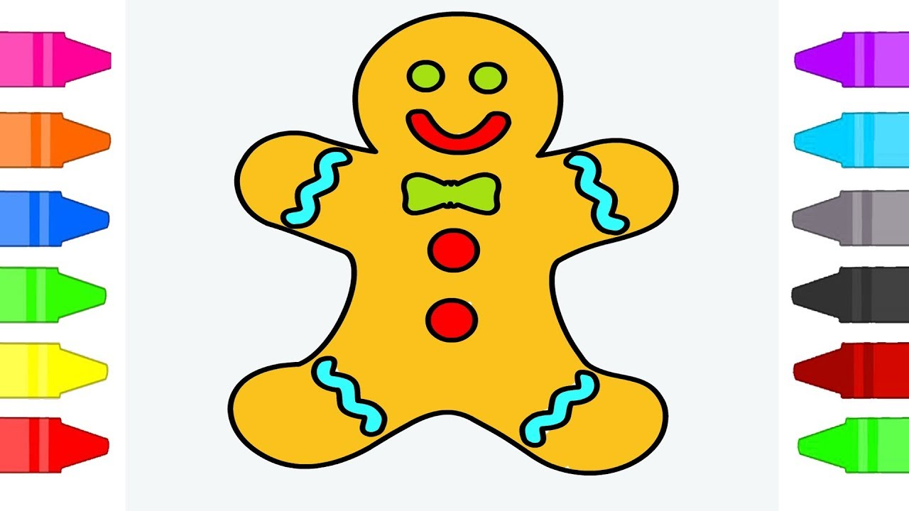 gingerbread man coloring pages for kids  coloring book