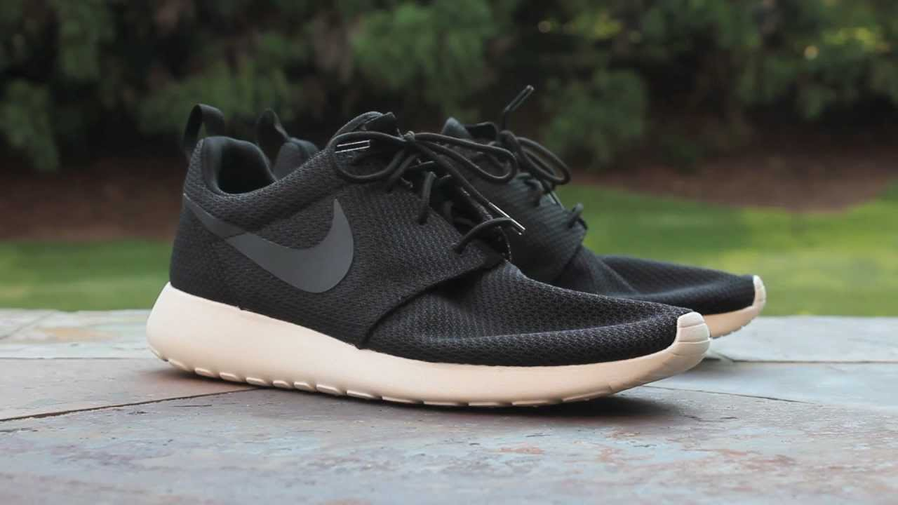 quick look nike roshe run black sail youtube. Black Bedroom Furniture Sets. Home Design Ideas