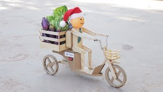 Wow! Amazing DIY Motorcycle Vegetable Delivery For Kids