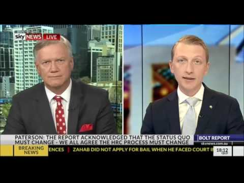Senator Paterson speaks to Andrew Bolt about 18C and the need for reform