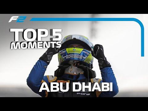 Top 5 Formula 2 Moments   2019 Abu Dhabi Grand Prix