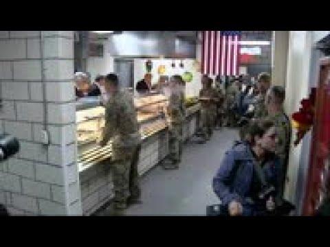 Trump Serves US Troops In Bagram Air Field Visit