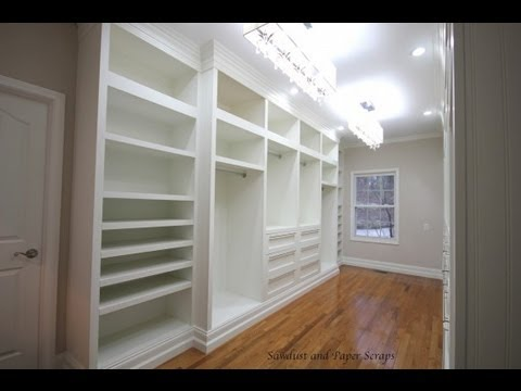 Building Built In Wardrobe Cabinets In Walk In Master Closet