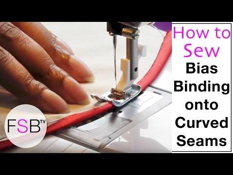 Sewing Bias Binding onto Curved Seams thumbnail