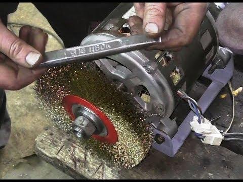 Как сделать наждак из двигателя стиральной машины